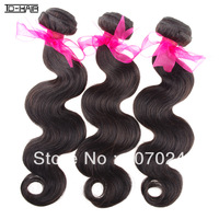 Queen hair products brazilian virgin hair body wave,100% human hair bundles 3pcs lot, unprocessed hair weaves color 1B TD HAIR