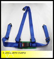 Hot selling,2 inch 3 point  racing seat belt harness(blue/Red)