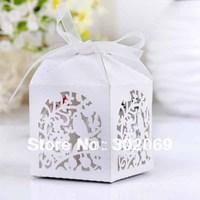 Laser cut favor box, Love Brids gift box New fashion box (Set of 120)