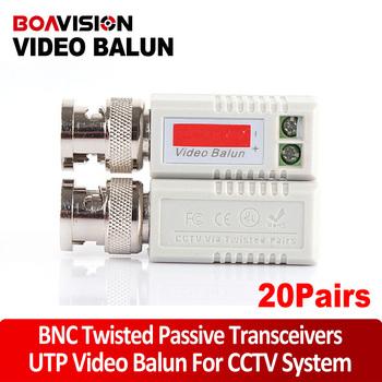20pair/lot Video balun BNC cat5 COAX CAT5 Camera CCTV BNC Passive Video Balun Transceiver Cable/Coaxial Adapter