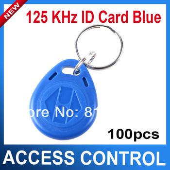 Rfid Access Control Card 100pcs/ Lot RFID Smart Card Of ID Key Fobs Tags125 KHz Id Card Blue