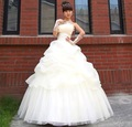2012 Newest  Design Style! Fashion Three Elegant Bride Princess Wedding Dress