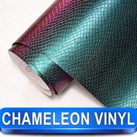 Fashion Chameleon Wrapping Film Snake Skin Vinyl Car Wrap Sticker Removable Wrap Vinyl Film