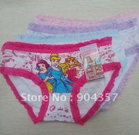 Wholesale Snow White Girls Panties Underpants Kids Underwear  Briefs Shorts Lace 3 Princess Pants Colorful Briefs Cotton
