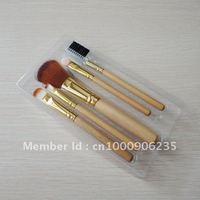 Free shipping 5pcs cosmetic brush set,makeup brush set with wooden handle