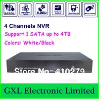 4 CH Megapixel NVR, Linux H. 264  HD, Each channel 30fps realtime, Standalone NVR, GXL-P104E-51