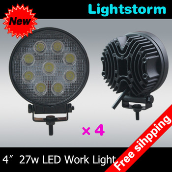 Big Promotion ~4 pcs/lot 27w Spot beam led work lamp,2400Lumens ,10-30V DC LED work light,led working light~Free shipping~!!!