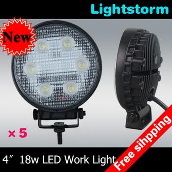 Big Promotion ~5pcs/lot 18w Spot beam led work lamp,1300Lumens ,10-30V DC LED work light,led working light~Free shipping~!!!