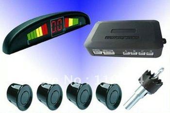 2x LED Display 4 Sensors System 12v  Indicator Parking  Assistance/parking sensor/Car Reverse Radar/Black/White/silvery/PS-B/W/S