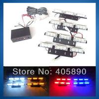 4 X 9LED 36LED Car Strobe Light Flash Light A6 Net Light