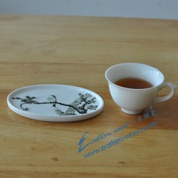 free shipping! buy 4pcs get 10% off.coaster, little ceramic cup wad, ellipse No2,High level design, Hand drawing decal(China (Mainland))