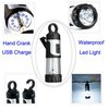 Portable 12 LEDs Hand Crank Dynamo Camping Lantern,Led tent Light,Led Torch Light /Flashlight + USB Charge Cable