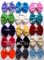 Free shipping Large chiffon rose hair bows 200pcs/lot IN STOCK