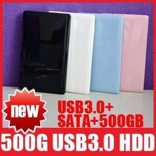 "500GB SATA USB 3.0 HDD 2.5"" External Hard Drive Disk 500 GB High Quality Free Shipping+Drop Shipping"