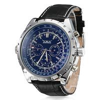 Men Black Automatic Watch 6 Hands Week/Day/24Hs Multifunction Mechanical Watch  Wrist watch Free Ship