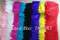"2Meters/Lot 4-6"" Mixed Colour Goose Feather Trim Duck Feather Fringe Free Shipping!"