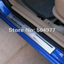 Door sills/sill plate, scuff plate for Kia Rio 2012, stainless steel,auto accessory,free shipping(China (Mainland))