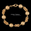 18k Gold Plated Bracelet Men Jewelry made by Environmental Copper