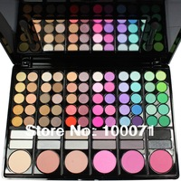 Fashion Hot Sale 78 Color makeup eyeshadow palette cosmetics blush with eye shadow brushes Makeup Palette#1704