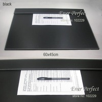 leather office desk A3/ A4 file paper clip drawing & writing board writting pad tablet black A005