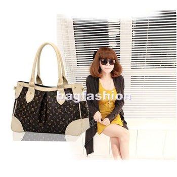 Drop shipping Korean Girl's Ladies fashion Handbag promotion PU leather Purse Shoulder tote Bag 4000