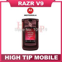 Motorola brand V9 100% original unlocked RAZR mobile phones 2MP English&Russian Keyboard Russian Menu Support Refurbished