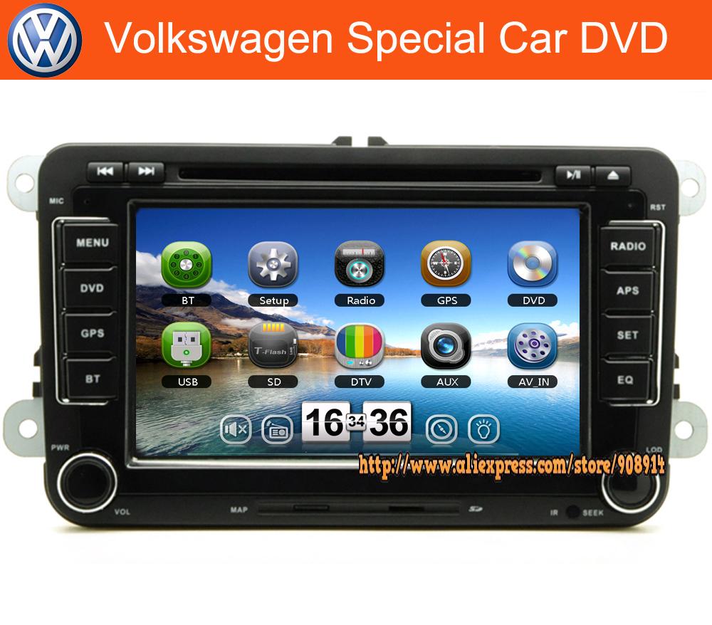"New ! 7 "" Car DVD for VW GOLF 5 Golf 6 POLO PASSAT CC JETTA TIGUAN TOURAN EOS SHARAN SCIROCCO TRANSPORTER (T5) CADDY with GPS(China (Mainland))"