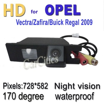 CCD170 degree Wired/Wireless rearview camera for Opel Vectra/Zafira/Buick Regal 2009,Waterproof &Night version,Free shipping