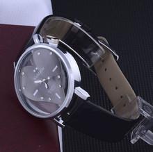 2014 New Fashion Exquisite Peach Heart Design Leather Wristband Watch For Women Lady Girls Watch Women Luxury Brand Atmos Clock (China (Mainland))