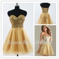 Hot New! A-Line Sweetheart Short/ Mini Beading Organza Homecoming/ Prom Dress