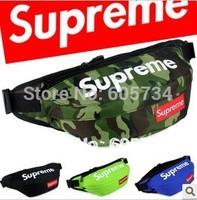 Free ship supreme bum Bag Fanny bags supreme Waist Pack 6 color mixed order acceptable 2014 phone bag key bag Christmas Gift