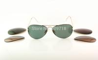 2014 New Style Best Quality Designer Sunglass Men/Women's Fashion 3460 Flip Out Sunglass Arista Gold Frame Green Lens Polarized