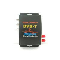Car DVB-T DVBT MPEG-4 HD tuner Digital TV receiver box Dual Antenna for European Free shipping Drop Shipping