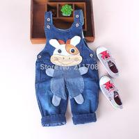 NEW Baby suspender trouser cute children/boy jeans toddler Denim baby cows overalls 1pc
