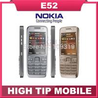 Russian keyboard support Nokia E52 cellular 3G phone Unlocked original  3.2MP Camera Refurbished 1 year warranty Free Shipping