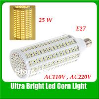 Free Shipping E27 25W 420 LEDs 3528 Corn Light AC 110 or 220V Led Bulb YM0022