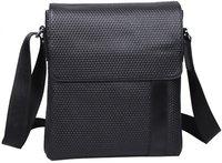 Free Shipping  New Mens Top Leather  Black  Messenger Shoulder Bags Satchel 1032