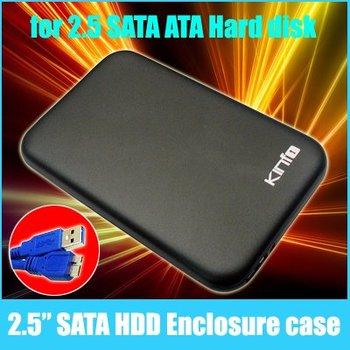 Free shipping !!! One year warranty / wholesale /New USB 3.0 2.5 Sata Hard Disk Drive HDD Enclosure Case Black 0.32-CS301H
