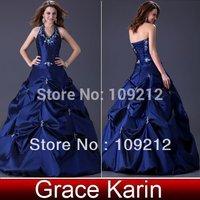 Free Shipping 1pcs/lot Grace Karin Taffeta Evening Ball Gown Mermaid Zuhair Murad Wedding Party Dresses 6 Size CL3108