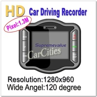 "1.3M 2.5"" Vehicle Car DVR,HD1280x720 car dvr recorder,120 degree View Angle,Original good quality&patented product,free shipping"