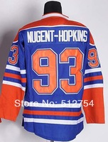 #93 Ryan Nugent-Hopkins Jersey,Ice Hockey Jersey,Best quality,Embroidery logos,Authentic Jersey,Size M--XXXL,Accept Mix Order