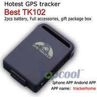 Original TK102B GPS Tracker Phone APP tracking 4band  1pcs battery full accessories! Retail box! Web&Free PC GPS tracking system