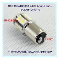 Free shipping P21/5W 1157 /BAY15D-13SMD5050 LED Brake/Reverse/Turn signal /Parking light auto lamp accessory tool kit 2pcs/lot
