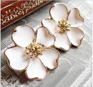 T16 High quality sexy  fashion Jasmine flower earrings for  women ear studs