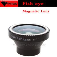 Fish eye Detachable magnetic 180 degree Fisheye lens for iPhone 4s 5 5c 5s Samsung S4 S5 Note2 3,50 pcs/lot mobile phone lens