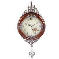 Wall Watch Solid Wood Vintage Wall Clock Pendulum Antique Mechanical Wall Clock