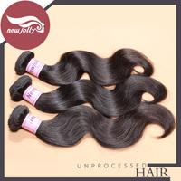 3pcs/lot brazilian body wave virgin hair 6a unprocessed virgin hair 12''-28'' inch human hair weaves natural brown soft hair