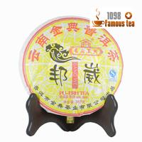 """""""AAAA"""" Good quality 357g Yunan Menghai 2010yr JinDian Pu'er/Puerh/Puer Ripe Shu Tea Cake,Free Shipping/1098 Wholesale China"""