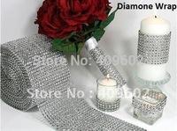 Free shipping! 10 yard X4.5 inch Bling Diamond mesh Wrap/ ribbon, Rhinestone Mesh Crystal Ribbon, one roll, wholesale