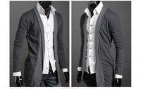 2013 new design Mens Slim Luxury Stylish Casual jacket long sleeve Knitted cardigan tshirts